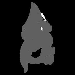La criatura del folklore kraken en movimiento