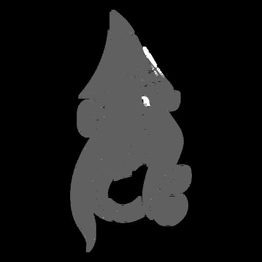 La criatura del folklore kraken en movimiento Transparent PNG