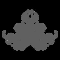 Criatura folklórica kraken sentado