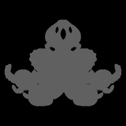 Folklore creature kraken sitting