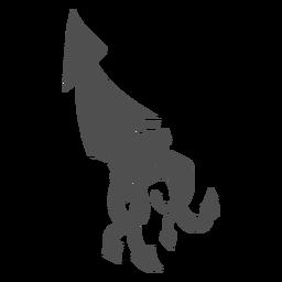 Criatura folclórica kraken caminhando