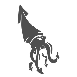 La criatura del folklore kraken caminando