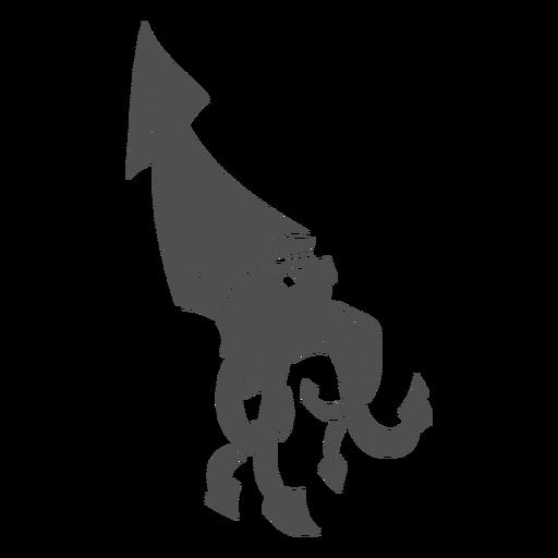 Folklore creature kraken walking