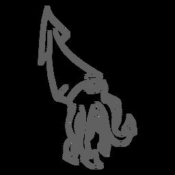 La criatura del folklore kraken walking stroke