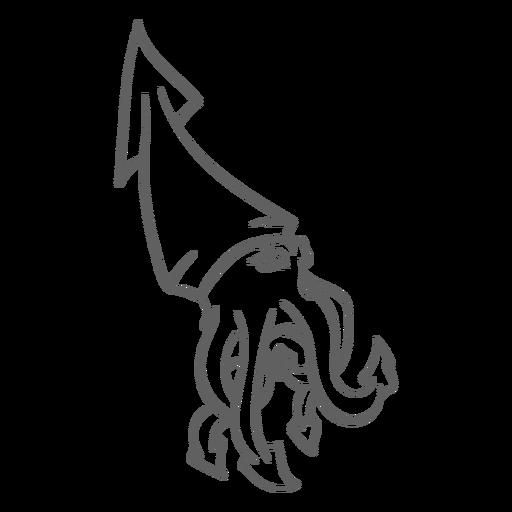 Folklore creature kraken walking stroke