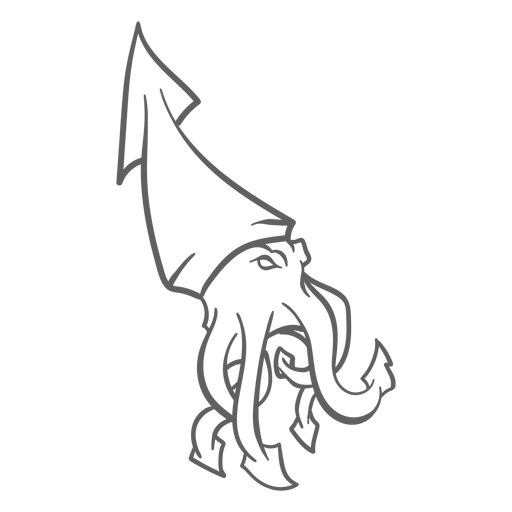 Trazo de caminar de kraken de criatura folclórica Transparent PNG
