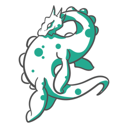 Folklore Kreatur Loch Ness Monster Duotone