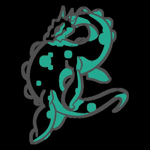 Folklore criatura lago ness monstruo duotono Transparent PNG