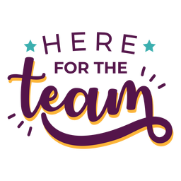 For team effort lettering