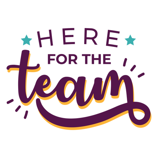For team effort lettering