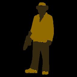 Pistola de chaqueta retro gángster bajada