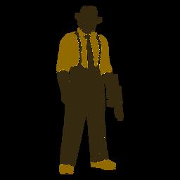 Arma de pé retrô gangster abaixada