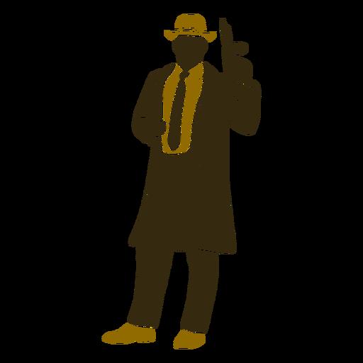 Gangster retro standing left facing