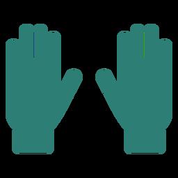 Gradening tool hand gloves silhouette