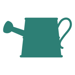 Gradening tool watering can silhouette