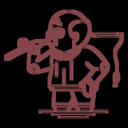 Curso de pesca de personagem de vovô