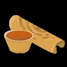 Indian dish dosa flat