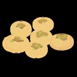 Indian dish pani poori flat