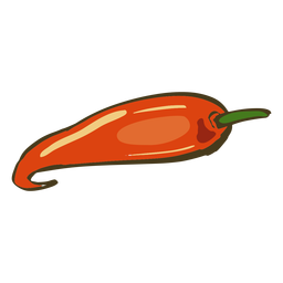 Plato indio chili rojo dibujado a mano