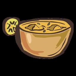 Mão de prato indiano shahi paneer desenhada