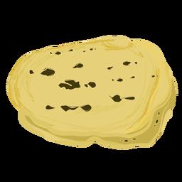 Prato indiano tandoori roti plana