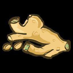 Mão de prato de açafrão indiano desenhado