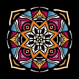 Mão circular complexa de mandala indiana desenhada