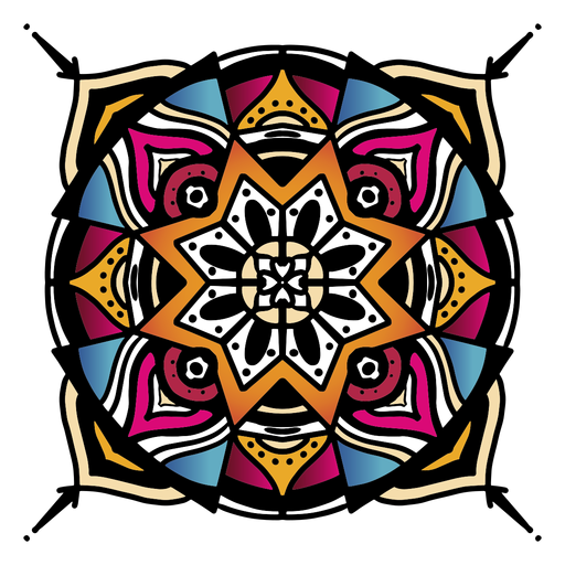 Indian mandala circular complex hand drawn Transparent PNG