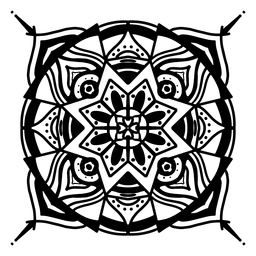 Curso complexo circular de mandala indiana