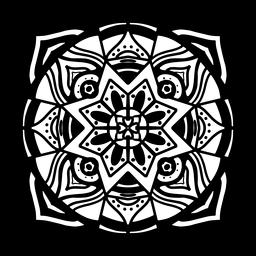 Indian mandala circular complex stroke