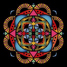 Mandala indio circular dibujado a mano floral