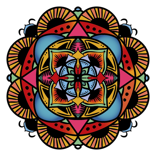 Mão floral circular de mandala indiana desenhada Transparent PNG