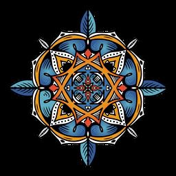 Indian mandala circular simple hand drawn