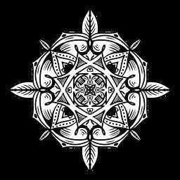 Mandala india trazo simple circular