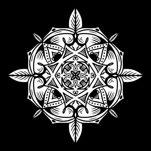 Indian mandala circular simple stroke Transparent PNG