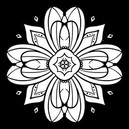 Trazo de flor de mandala indio