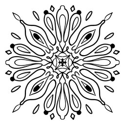 Indian mandala flower complex stroke