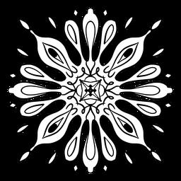 Trazo complejo de la flor de mandala india
