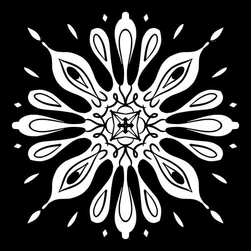 Curso de mandala indiana flor complexa