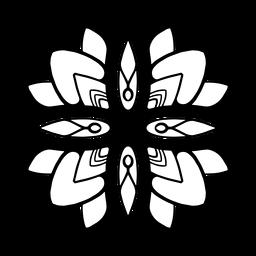 Mandala india flor simple trazo
