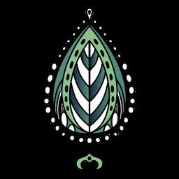 Mão de folha de mandala indiana desenhada