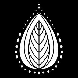 Indian mandala leaf stroke