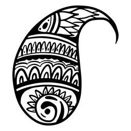 Curso complexo de folha de mandala indiana