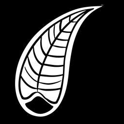 Hoja de mandala india curvada trazo simple