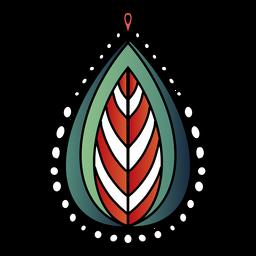 Mandala indiana folha três tons mão desenhada