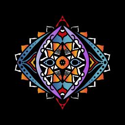 Dibujado a mano mandala indio oval