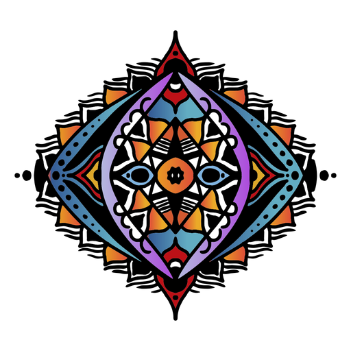 Indian mandala oval hand drawn Transparent PNG
