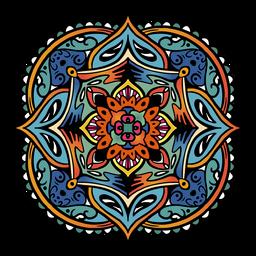Mandala indiana quadrado simples mão desenhada