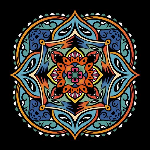 Indian mandala square simple hand drawn - Transparent PNG ...