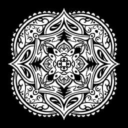 Traço simples quadrado de mandala indiana